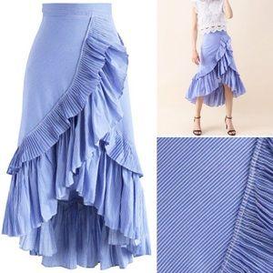 Faux wrap ruffle skirt - NWOT